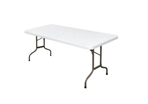 Bolero Partytafel Wit Inklapbaar   183 cm
