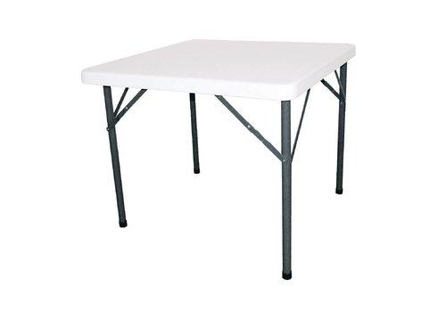 Bolero Klappbarer Partytisch Weiß | 86 x 86 cm
