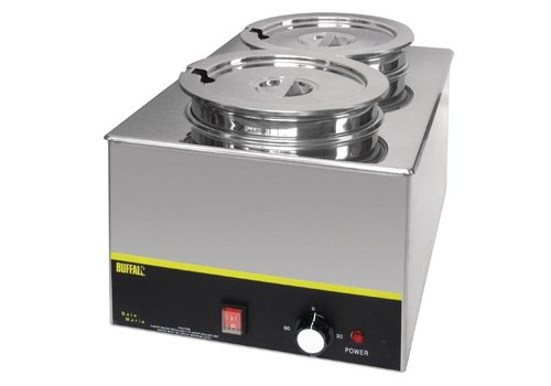 Buffalo Bain Marie without Tap, with Two Round Pots