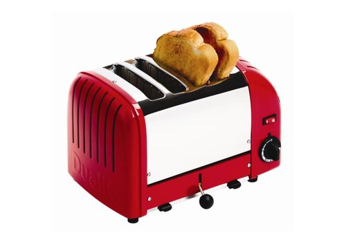 Dualit Toaster rot Edelstahl | 4 Schnitte