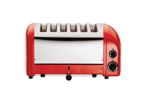 Dualit Dualit Vario Toaster rot 6 Schnitte