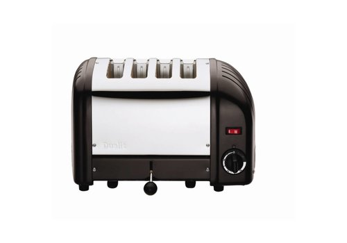 Dualit Toaster stainless steel black 4 cuts