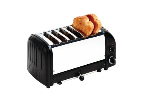 Dualit Toaster schwarz Edelstahl | 6 Schnitte