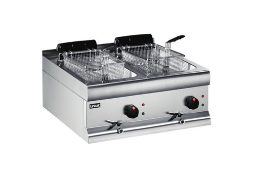 Lincat Silverlink 600 Dual fryer with drain - 2 x 9 liter