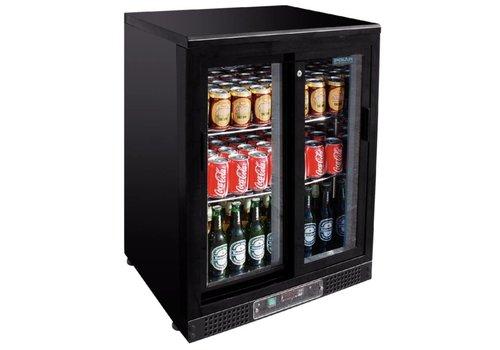 Polar Bar Kühlschrank mit schwarzer Tür | 92,5x60x54 cm