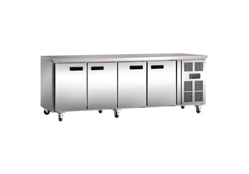 Polar Cooling Stainless Steel Stainless Steel 4-Doors and Wheels | 86 x 223 x 60 cm