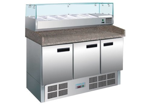 Polar Polar refrigerated pizza / sandwich preparation counter 368ltr