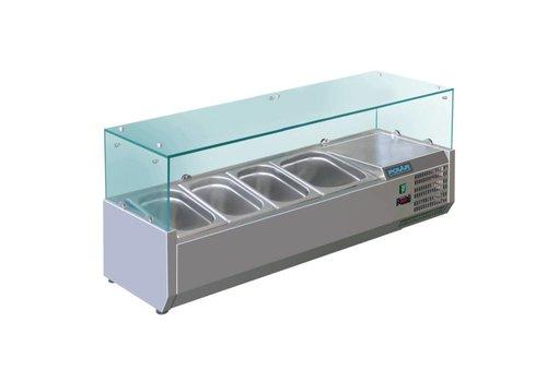 Polar Set-up refrigerator vitrine | 3 x GN 1/3 + 1 x GN 1/2