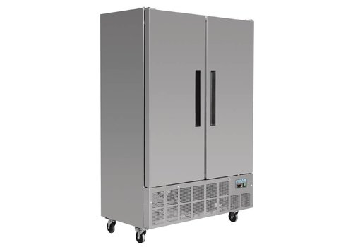 HorecaTraders Horeca RVS Freezer 960 Liters