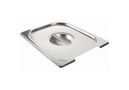 Vogue Stainless steel lid for GN 1/2 with handles