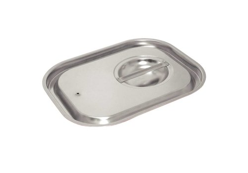 Vogue Stainless steel Gastronorm lid 1/2