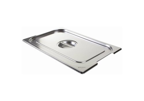 Vogue Stainless steel lid for GN 1/1 with handles