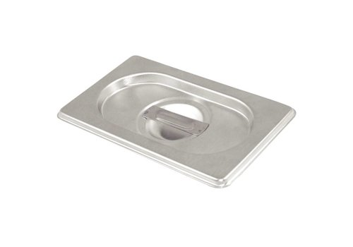 Vogue Stainless steel lid with handle Gastronorm | GN 1/9