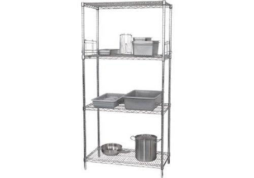 Vogue Steel Storage Rack 4 Shelves 183x60cm