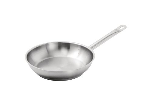 Vogue Stainless steel frying pan 24 cm.