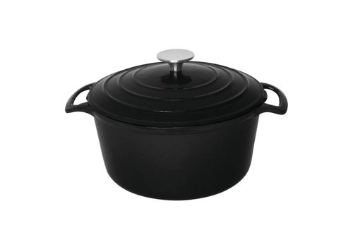 Vogue Round Casserole Black 3,2ltr | Ø20,5cm