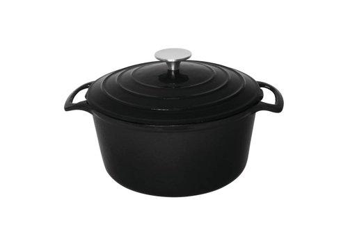 Vogue Round Casserole Black 4ltr | Ø23.5cm