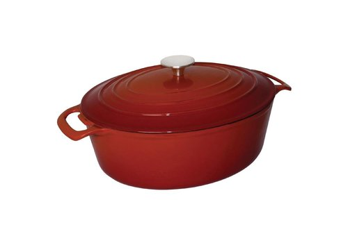 Vogue Ovale Braadpan Rood 5ltr   24x30cm