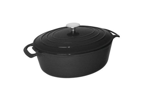 Vogue Oval casserole | Black 6 liters
