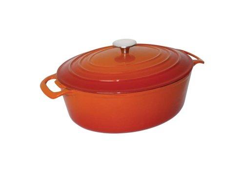 Vogue Oval frying pans Orange 6 liters