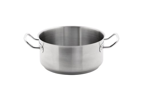 Vogue Stainless steel saucepan low model 3 formats