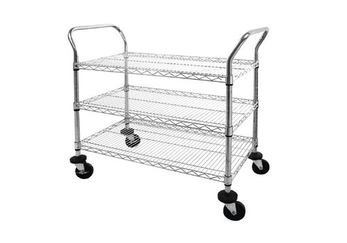 Vogue Serving trolley with 3 blades 96 (h) x91x45cm