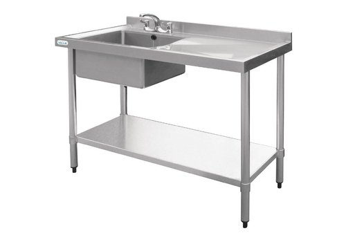 Vogue Stainless steel Sink table | sink Left | 100x60x90 cm