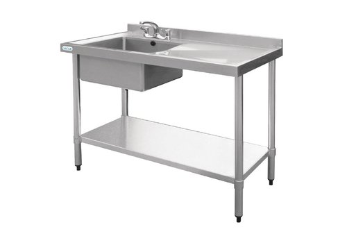 Vogue Stainless steel hospitality sink sink left | 120x60x90 cm
