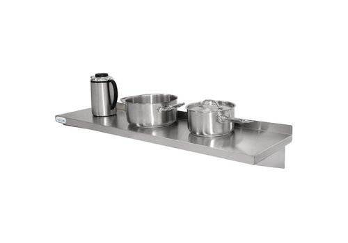Vogue Stainless steel wall shelf 60 x 30 cm