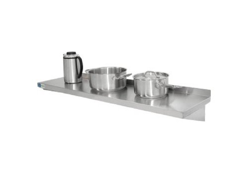 Vogue Stainless steel wall shelf 90 x 30 cm