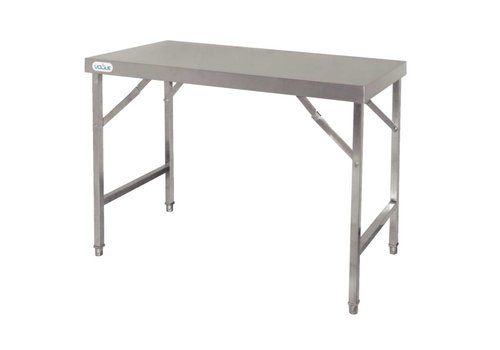 Vogue Stainless steel collapsible worktable | 2 formats