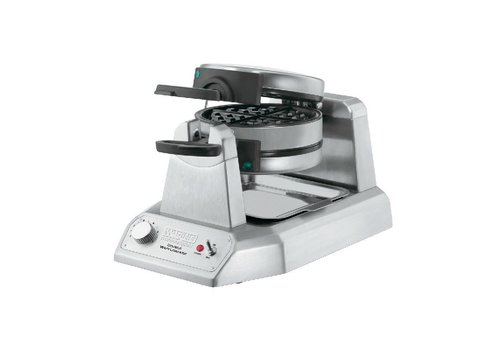 Waring Stainless Steel Double Waffle Iron | Round | 50 waffles / hour