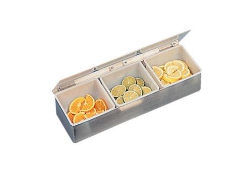 HorecaTraders Stainless Bardispenser   3 removable trays