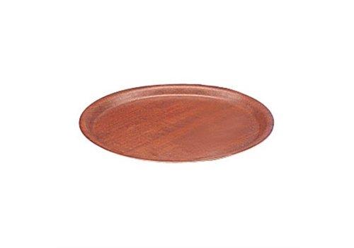 HorecaTraders Tablett Mahagoni Rund Ø 30 cm