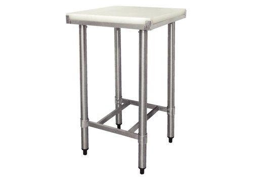 Vogue Stainless steel work table with cutting blade