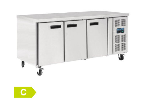 Polar Patisserie Cool workbench 3 doors | 86 x 202 x 80 cm