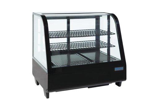 Polar Koeldisplay - Tafelvitrine - zwart 100 liter