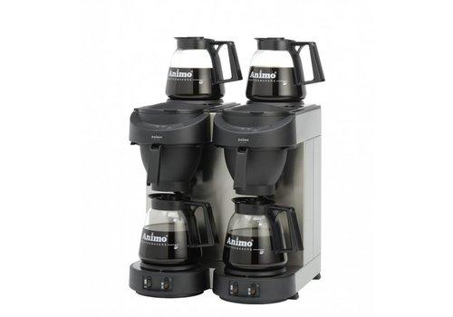 Animo Koffiemachine dubbel met 4 kannen
