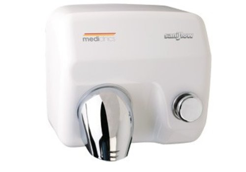 Mediclinics Hand Dryer with pushbutton white Saniflow E05 - 2250W