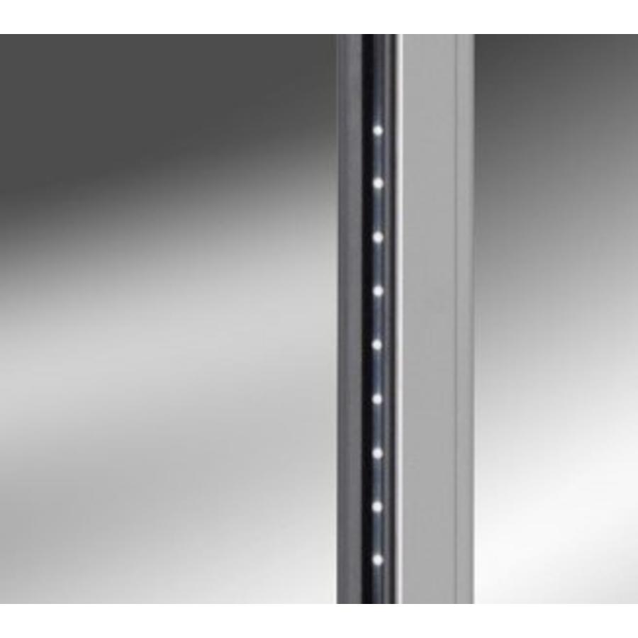 Unterbau Kühlschrank Aus Edelstahl Mit Glastür 125 Liter