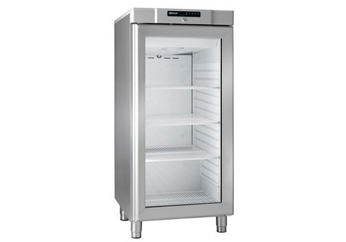 Gram Compact stainless steel refrigerator with glass door 218 liters