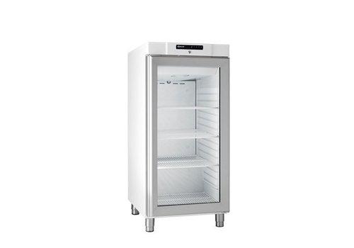 Gram Kompakter Kühlschrank Weiß mit Glastür   218 Liter