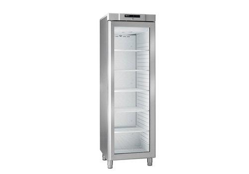 Gram Compact stainless steel refrigerator with glass door 346 liters