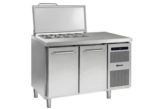 Gram Gram stainless steel saladette 2 doors | 4x 1/3 GN | 345liter
