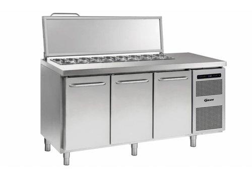Gram Gram stainless steel saladette 3 doors | 7x 1/3 GN | 506 liters