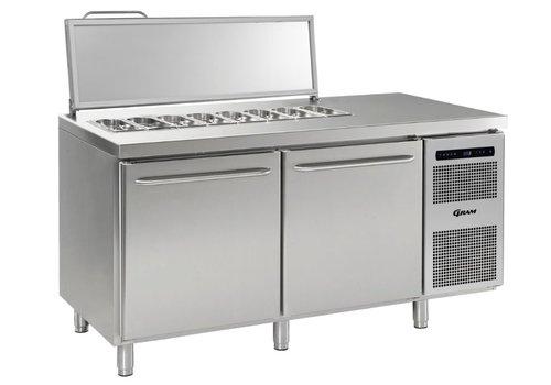 Gram Gram stainless steel saladette 2 doors | 2x 1/1 GN | 586 liters