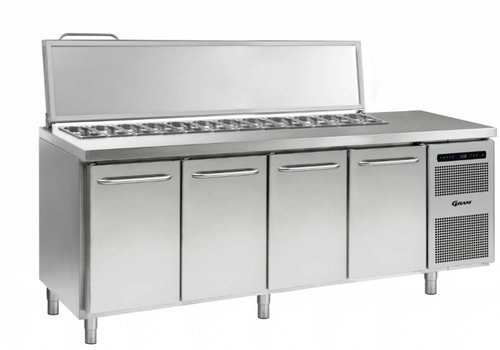Gram Gram stainless steel saladette 4 doors | 9x 1/3 GN | 668 liters