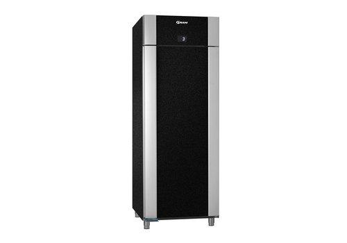 Gram Edelstahl tiefkühlende Einzeltür 2/1 GN schwarz 614 Liter