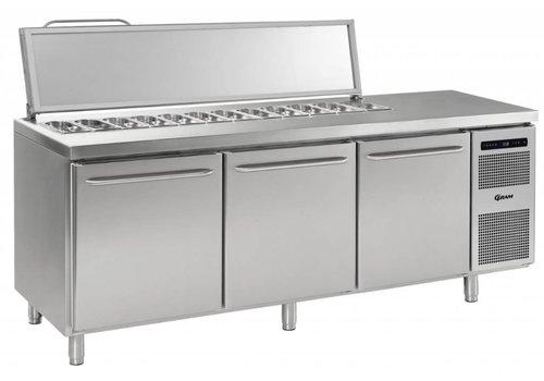 Gram Gram stainless steel saladette3 doors | 3x 1/1 GN | 865 liters