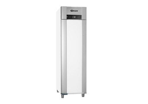 Gram Tiefkühltür aus Edelstahl, weiß 465 Liter